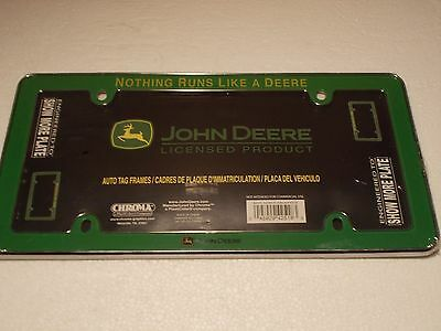 "JOHN DEERE License Plate ""Frame"" - NEW"