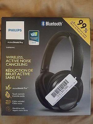 PHILIPS Wireless noise canceling headphones w/Bluetooth - SHB9850NC Used