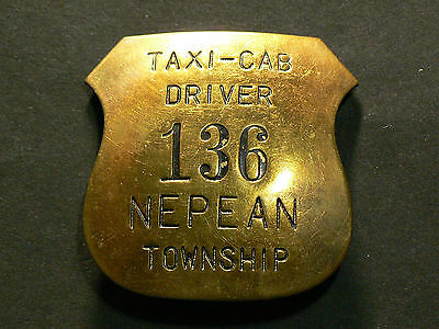 Canada  Nepean Township, Antic Taxi Cab Driver Badge #G5157