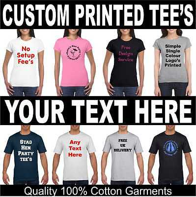 Adult TShirt - Your Text Personalised Custom Mens Ladies Printed Stag Hen Gift