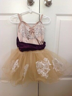 """Weissman Girls Dance Costume Style 6939 """"Once upon a Dream"""" Size Small Child"""