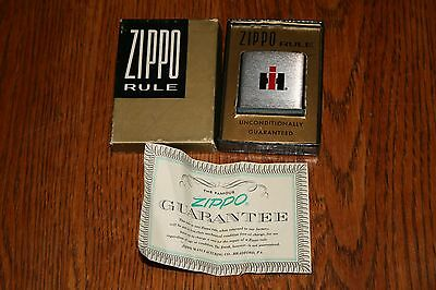 NIB International Harvester Tractor Truck Scout Advertising Zippo Ruler