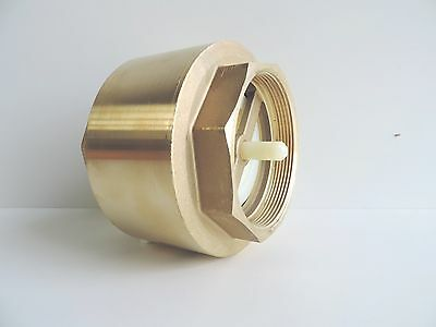"NEW Check Valve Spring Brass 80mm 3"" BSP - DOUBLE FLOW - YORK Non Return 75mm"