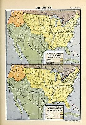 1905 map Territory Present United States after April 30 1803  AFTER 1821 67