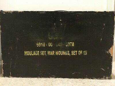 USGI Military War Wounds Moulage Medic Training Kit of 19, NSN: 6910-00-540-6378