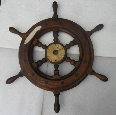 Genuine Vtg Old Stock Never Used Ship Yacht Boat Steering Wheel Partial Label