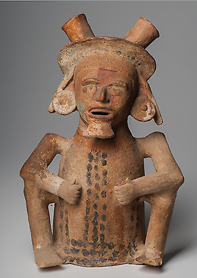 Xantil Seated Male Figure Precious Pre-Columbian Art Mexico Ca. 900-1400 A.D.