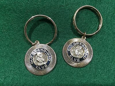 Lot of 2 Vintage Old Grand Dad Club Whiskey Key Rings