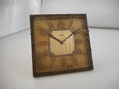 Beautiful Vintage Brass Clock-Doxa Watch Co. Art Deco