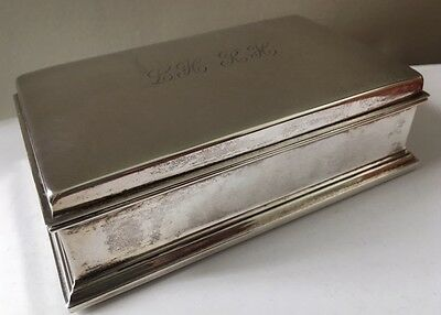 Vintage Sterling Silver Gorham Cigarette / Jewelry Trinket Box 320 grams