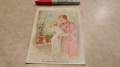 Lion Coffee Woolson Spice Dayton Ohio Baby's First Easter Victorian trade card