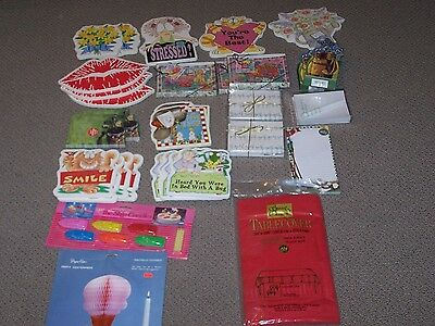Large lot of stationary paper items. Cards, Pads, Postcards