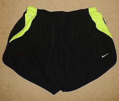 NIKE Fit Dry XL Mens Shorts Mens Running Shorts Inner Pants Black Dayglo Yellow