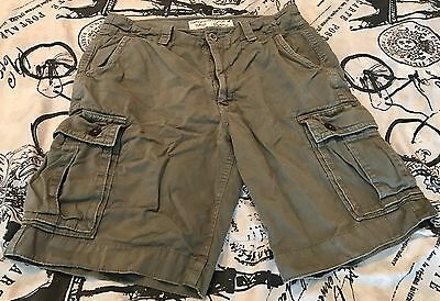 American Eagle Outfitters Men's Classic Cargo Shorts Green Gray Size 33