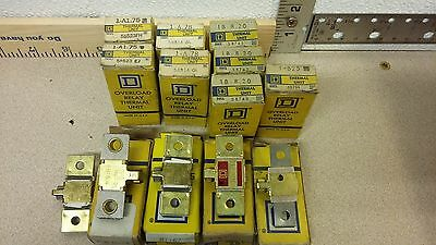 Square-D Overload Relay B 2.40, B 11.5, Fb 16.4 Lot Of 13 New
