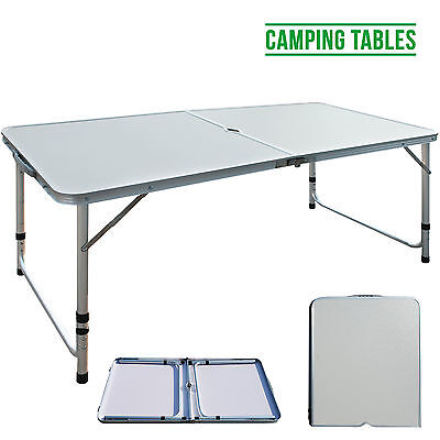4FT Lightweight Aluminum High Adjustable Folding Camping Table Outdoor SEWING
