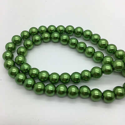NEW 8mm 30Pcs Glass Round Pearl Spacer Loose Beads DIY Jewelry Making BA20