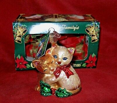 """Old World Christmas  """"Kitty Love""""  Ornament 2006  with box & tag"""