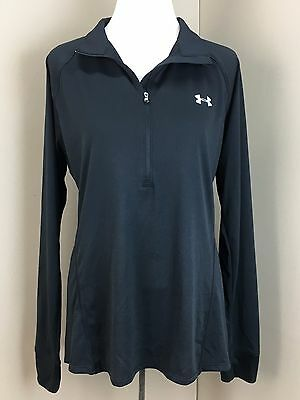 NEW! Under Armour Women's Black Athletic 1/2 Zip Shirt (Size XL) NWT
