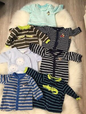 Lot of Baby Boy clothes Newborn 16 Pieces Carters Sleepers  And More