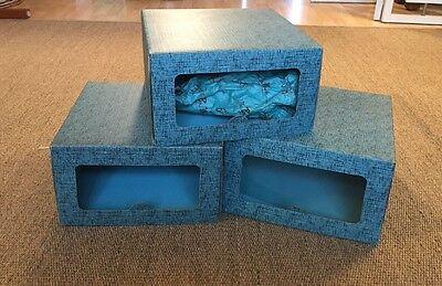 Vintage Bon Marche Seattle Hat Boxes and Bag Turquoise