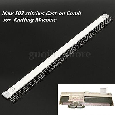 1Pc 102 stitches Cast-on Comb 18''/46cm for All 4.5mm/9mm Knitting Machine