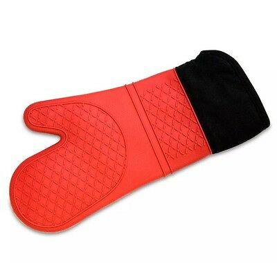 NEW Cuisena Silicone & Cotton Oven Glove Red