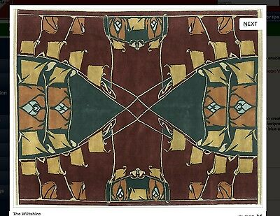 arts and crafts mission period rug -The Wiltshire Rug   8x10