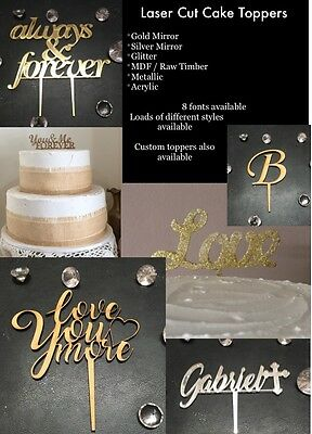 Laser Cut Cake Toppers From $10