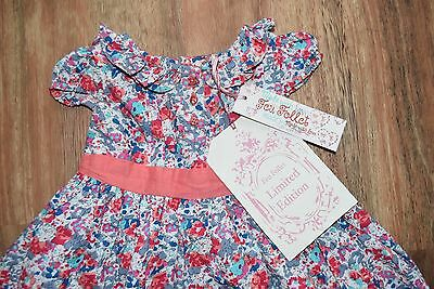BNWT Gorgeous Floral Baby Girls Dress Size 6-12 Months