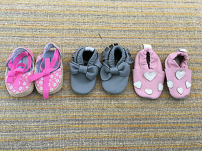 Girls Baby Shoes Size 0 To 6 Months Soft Sole