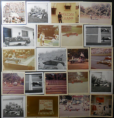 LOT of (21) * VINTAGE Photo's of Soap Box Derby Cars Races and Competition No.3