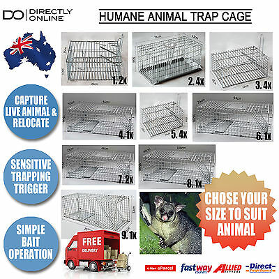 Humane Animal Pest Trap Cage Rodent Rat Mouse Mice Possom Catch Live Bait New