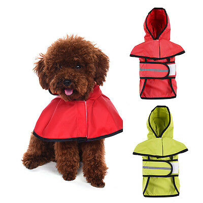 Dog Rain Coat Jacket Coat Waterproof Hooded Raincoat Outdoor Reflective Clothes