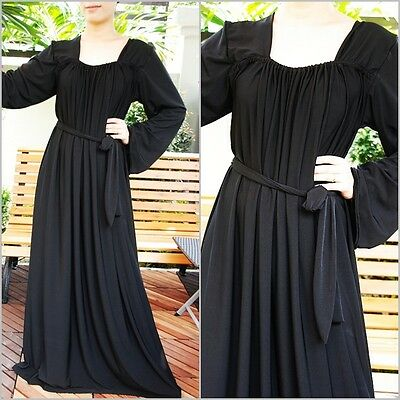 NWT Women's Long Sleeve Maxi Dress Loose Stretchy Comfortable Plus size 3XL