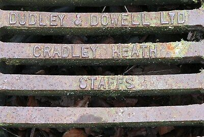 Antique rare Dudley and Dowell Ltd cast Iron drain covers