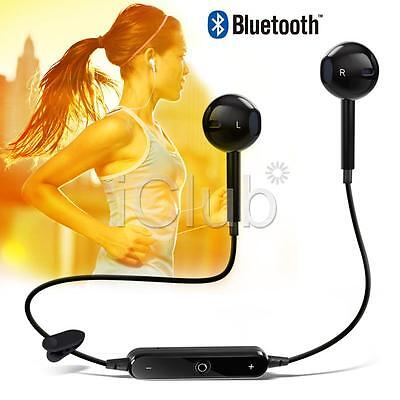 Bluetooth Wireless Headset Sports Stereo Headphone Earphone For iPhone 6s 6 Plus