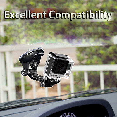 Car Window Windshield Glass Suction Cup Mount Holder for GoPro Hero 4 3 2 Camera