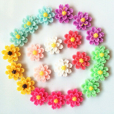 NEW DIY12pcs mix Resin flower flat back Scrapbooking For phone/craft