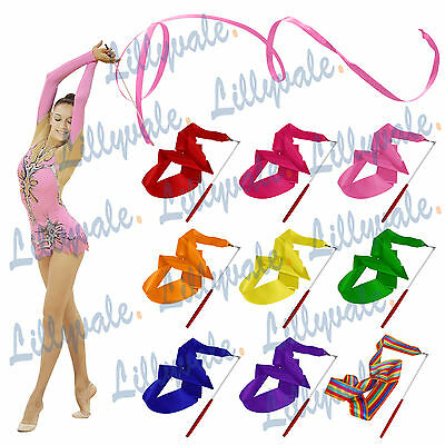 UK Gym Dance Ribbon Rhythmic Art Gymnastic Streamer Baton Twirling Rod 4M