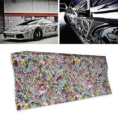 STICKER BOMB SHOCKER Funny Car Window Bumper DRIFT JDM Vinyl Decal Stickers
