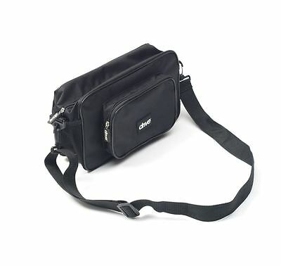 Black Nylon Mobility Wheelchair Arm Pannier Bag with Removable Shoulder Strap
