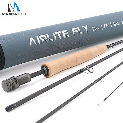 Maxcatch 2WT Fly Fishing Rod 7'6'' 4Sec Medium-Fast Action Graphite Light weight