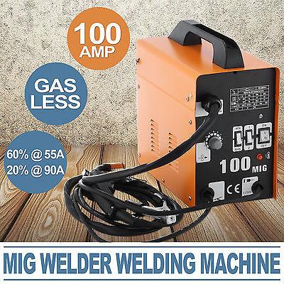 Gasless MIG 100AMP Welder Welding Machine Ip21 Durable Metalworking GREAT