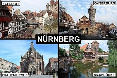 SOUVENIR FRIDGE MAGNET of NÜRNBERG NUREMBERG GERMANY