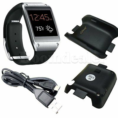 USB Cable Charger Cradle Charging Dock for Samsung Galaxy Gear SM-V700 Watch