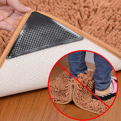 4Pcs Ruggies Rug Carpet Mat Grippers Non Slip Grip Corners Anti Skid Silicone