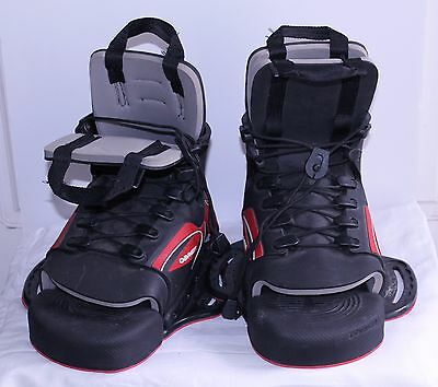 Obrien Link Wakeboarding Bindings Water Ski Black Red Front Toe Vgood Rp$250+