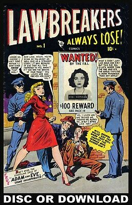 ☆ CRIME COMICS, POLICE/DETECTIVE ☆ Golden Age Variety Scanned to (Vol2) Disc ☆