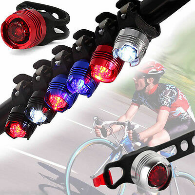 Safe Bicycle Bike LED Front Rear Tail Helmet Flash Light Warning Cycling Lamp UK